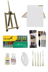 Fanart Academy 12X12 ML Yağlı Boya - Masaüstü Şövale Seti - Thumbnail