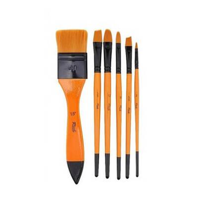 Glance Yağlı Boya Seti2 - Fanart 12x12ml Yağlı Boya - Rich 6'lı Karma Fırça - 35x50 Tuval