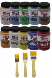 Rich MultiDecor Chalked 10'lu 250ml + 3 Fırça Hediyeli - Thumbnail